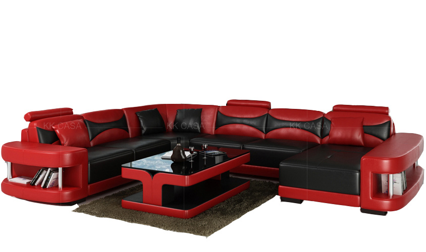 China Optional Color Best Seller Flip-up Headrest Sectional Sofa .