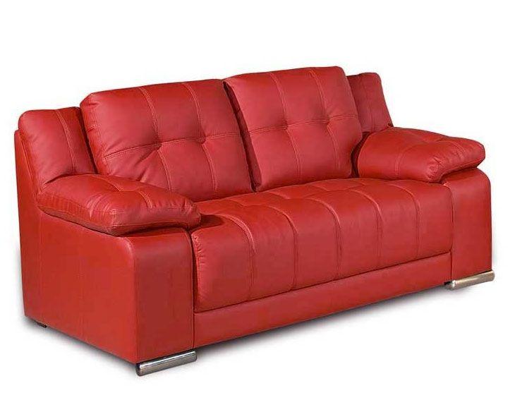 Red Leather 2 Seater Sofa | 2 seater sofa, Sofa, Red leather so