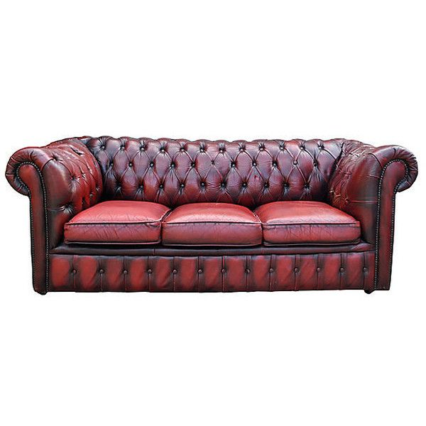 Pre-Owned 1920s English Oxblood Chesterfield Sofa ($3,295 .