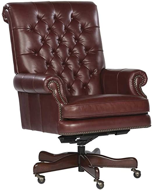 Amazon.com: Tufted Leather Executive Office Chair Color: Merlot .