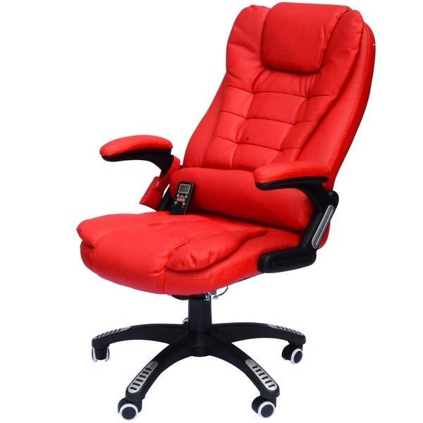 Shop HomCom High-Back Executive Ergonomic PU Leather Heated .