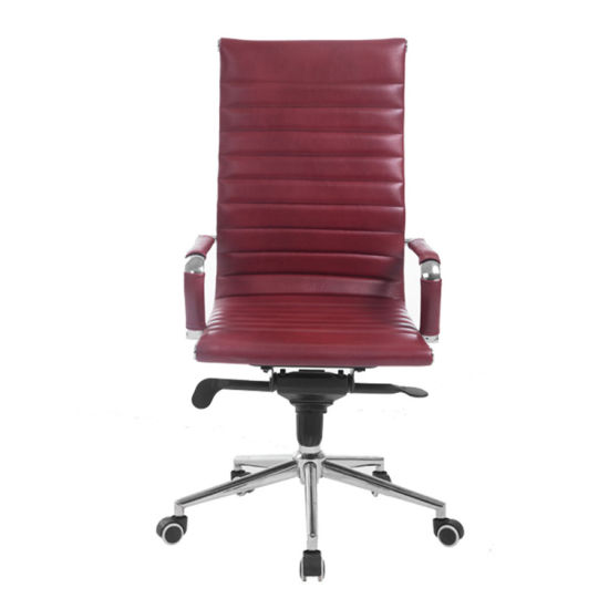 China Modern High Back Ribbed Upholstered PU Leather Executive .