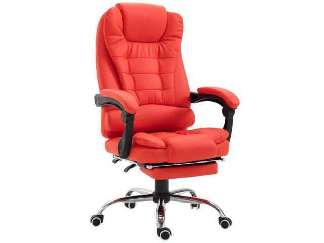 HOMCOM High Back Reclining PU Leather Executive Office Chair with .