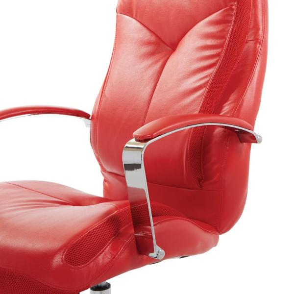 OSP Home Furnishings Clifton Office Chair with Red Mesh and Red .
