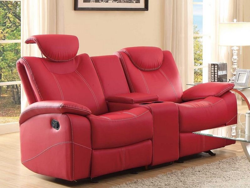 Leather Recliner Sofas Uk | Recliner, Love seat, Red leather so