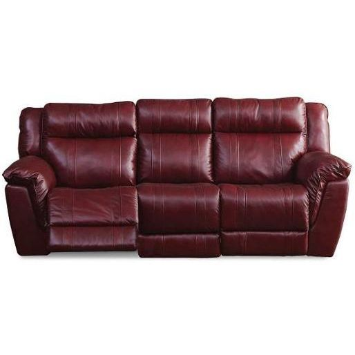 """K Motion"""" 89"""" Red Leather-Match Power Reclining Sofa 