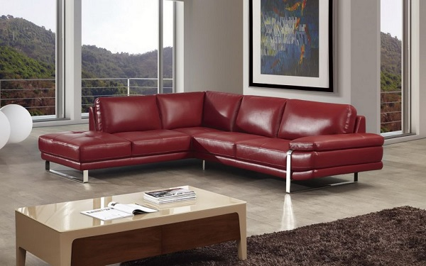 Modern Red Italian Leather Sectional Sofa - Shop for Affordable .