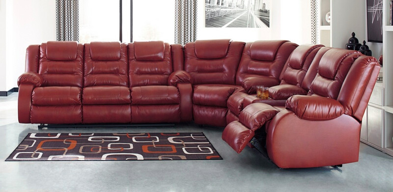 Ashley Furniture 79306-88-77-94 3 pc Vacherie salsa faux leather .