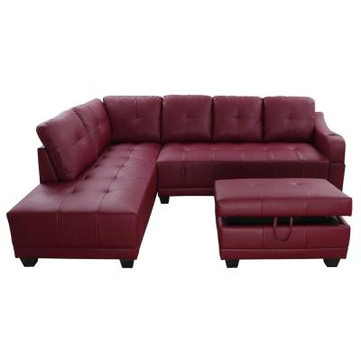 Faux Leather - Red - Sectionals - Living Room Furniture - The Home .
