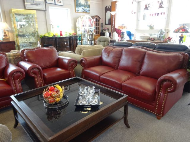 wine red leather sofa love seat chair – Copy | Red leather sofa .