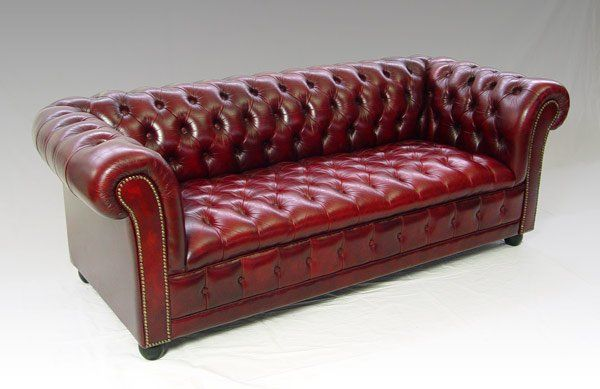 Red Leather Chesterfield Sofa | Red leather chesterfield sofa, Red .