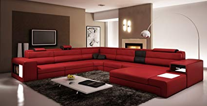 Red Leather Sectional Sofa – storiestrending.c