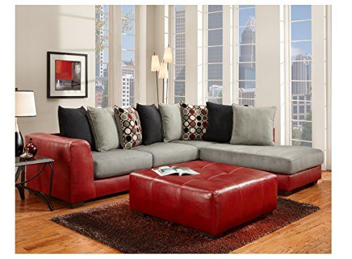 Chelsea Home Furniture Landon Sectional Chelsea in Sierra Red .