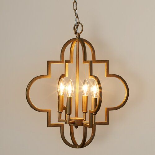 Reidar 4 - Light Candle Style Geometric Chandelier | Geometric .