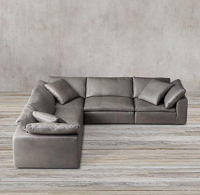 Cloud Modular Leather L-Sectional- RESTORATION HARDWARE- CONFIRM .