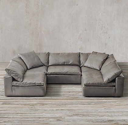 Cloud Cube Modular Leather Sectionals | Sectional, Sectional sofa .