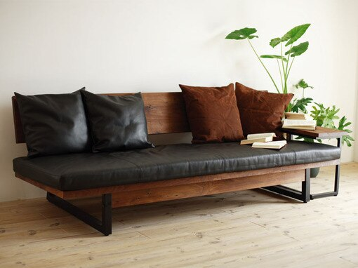 American style wood retro sofa chair iron small family living room .