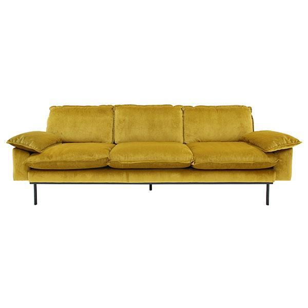 Retro Sofa | 4 seater | gold ochre – HKliving U