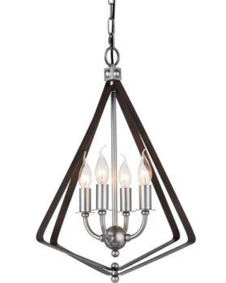 Hot Sale: Charlton Home Rockland 4-Light Geometric Pendant X1110560