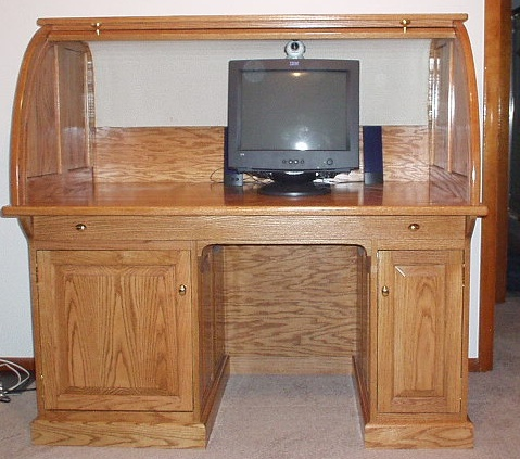 Woodware: Roll-Top Computer De