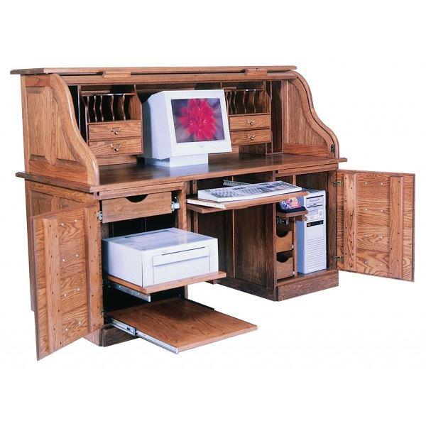 Computer Rolltop Desk - Amish Crafted Furnitu