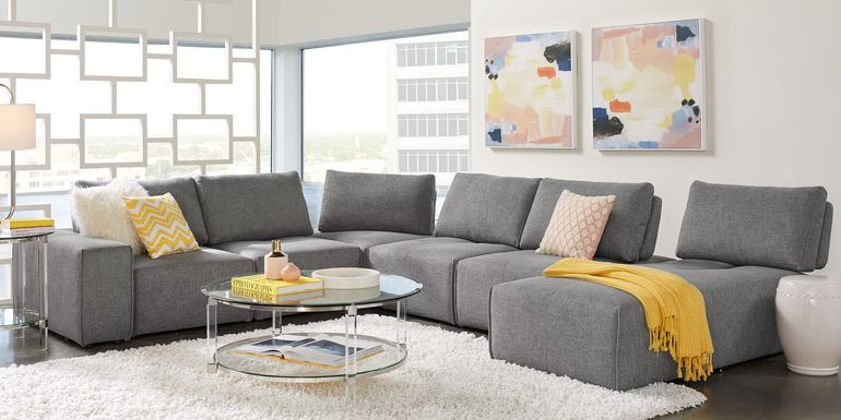 Gray Sectional Sof