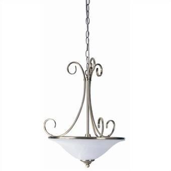 Gracie Oaks Rossi 1 - Light Single Globe Pendant with Wrought Iron .