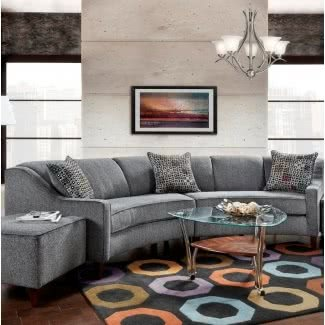 Curved Sectional Sofa / Couch - Ideas on Fot