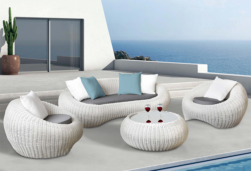 Hormel outdoor round sofa set with its fresh and amazing look .