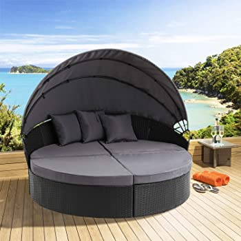 Amazon.com : Oakmont Patio Furniture Outdoor Daybed Round Sofas .