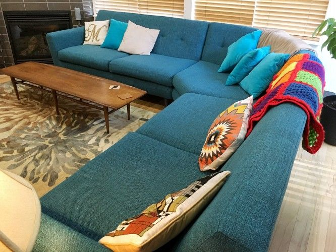 Customer Photos | Corner sofa living room, Fabric sofa design .