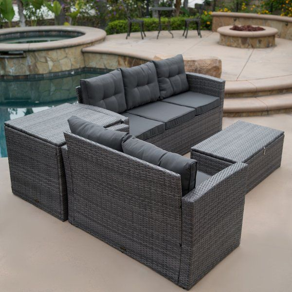 Rowley Patio Sectional with Cushions | Patio sofa set, Patio .