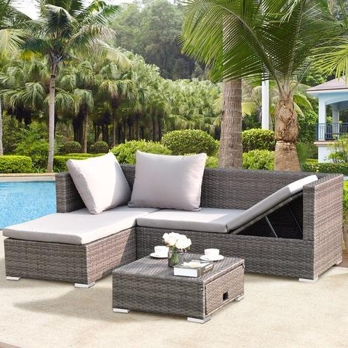 2020 Popular Rowley Patio Sofas Set with Cushio