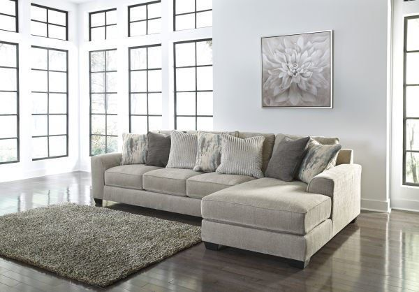 Belvin pewter 2-piece sectional | Mattress furniture, Ashley .