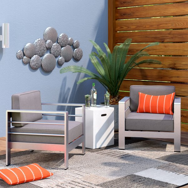 Brayden Studio® Royalston Patio Chair with Cushion & Reviews | Wayfa