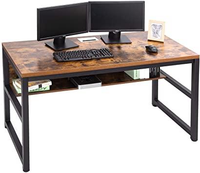 "Amazon.com: TOPSKY 55"" Computer Desk with Bookshelf/Metal Desk ."