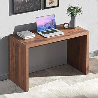 FurniChoi Furnichoi Rustic Computer Desk, Vintage Wood Study .