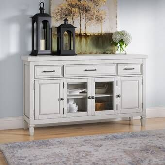 "Rutledge 54"" Wide 3 Drawer Sideboard in 2020 