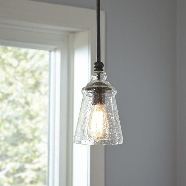 Sargent 1 - Light Single Bell Pendant | Glass pendant light .