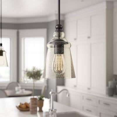 Sargent 1 - Light Single Bell Pendant | Pendant lighting, Lantern .