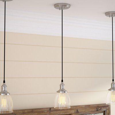 Sargent 1-Light Single Bell Pendant | Farmhouse pendant lighting .