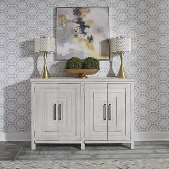 "World Menagerie Sayles 58"" Wide 3 Drawer Acacia Wood Sideboard ."