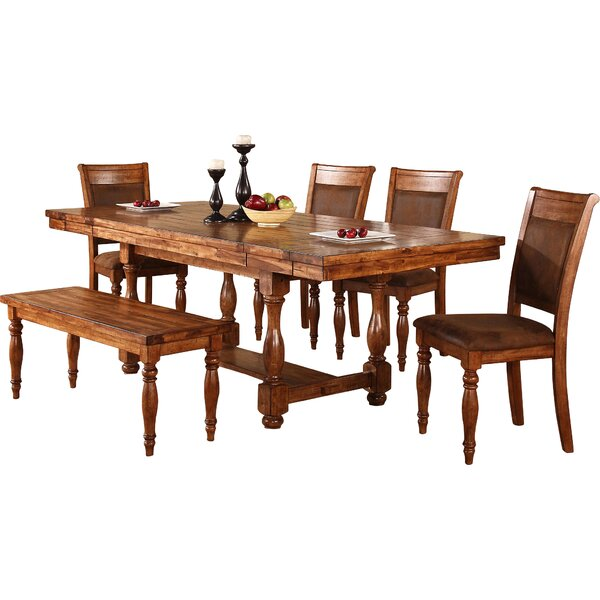 World Menagerie Sayles Extendable Dining Table & Reviews | Wayfa