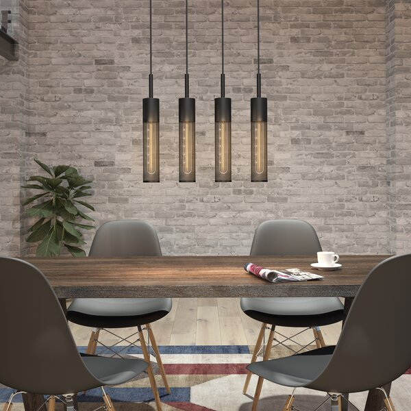 Williston Forge Schutt 4 - Light Kitchen Island Linear Pendant .