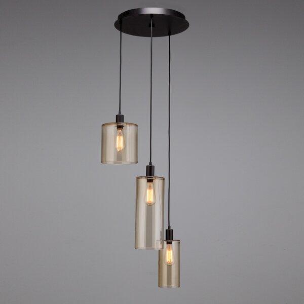 Hammerton Studio 3-Light Cluster Cylinder Pendant | Wayfa