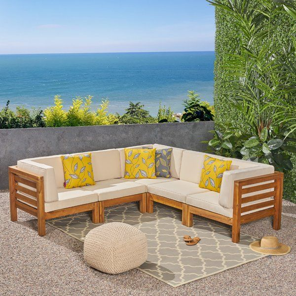 Patio Sectional with Cushions (With images) | Patio sectional .