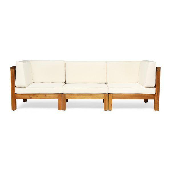 Seaham Patio Sofa with Cushions | AllModern | Patio sofa, Wood .