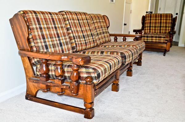1970's Sofa And Chairs | Sofa wood frame, Sofas and chairs, 1970s .