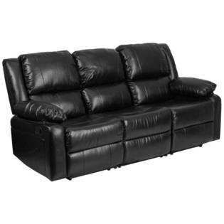 Flash Furniture Black Leather Sofa - Sears Marketpla