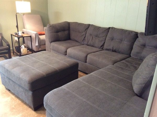 Sectional Couches With Large Ottoman in 2020 | Large ottoman .